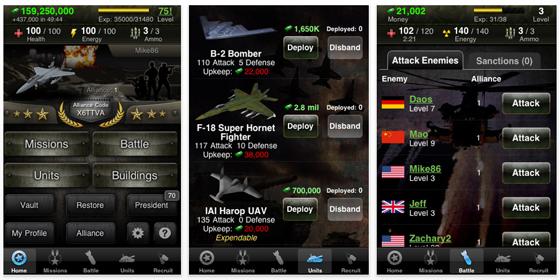 Kämpfe mit dem kostenlosen World War auf dem iPhone oder iPod Touch für Dein Land