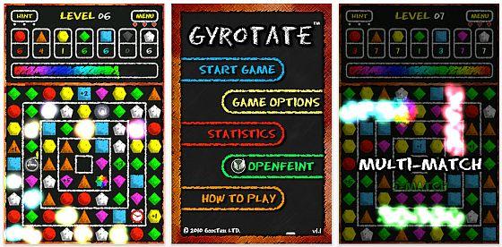 2. Chance: Gyrotate Puzzlespiel für iPhone und iPod Touch wieder kostenlos