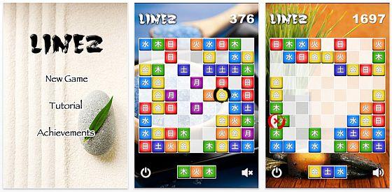 Populär in Japan und gerade kostenlos: Puzzle Linez für iPhone und iPod Touch