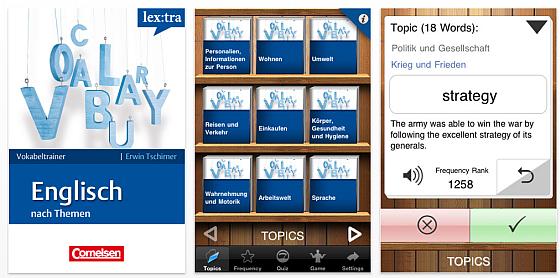 lextra vokabeltrainer englisch franz sisch und spanisch von cornelsen heute kostenlos app. Black Bedroom Furniture Sets. Home Design Ideas