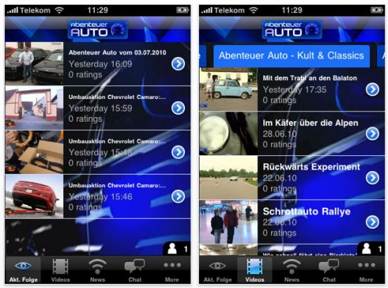 Screenshot App Abenteuer Auto