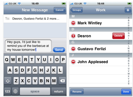 mit dieser iphone app schickst du sms an gruppen app. Black Bedroom Furniture Sets. Home Design Ideas
