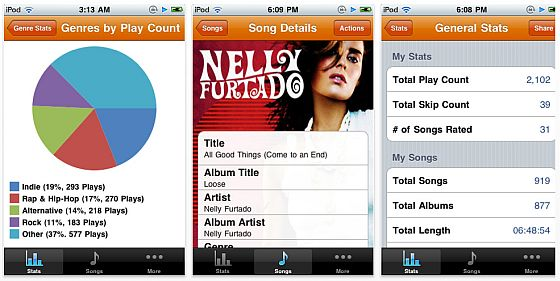 Screenshots My Music Stats