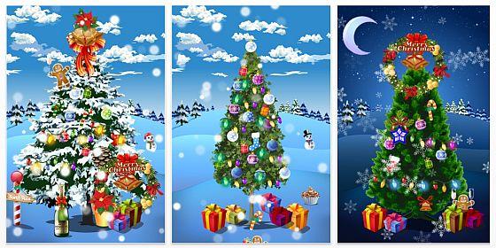 Gerade kostenlos weihnachtsbaum schm cken mit iphone und - Weihnachtskarten drucken gratis ...