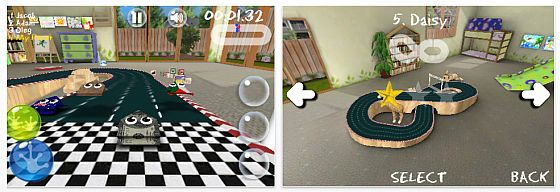 Screenshot iPhone App Hop Race