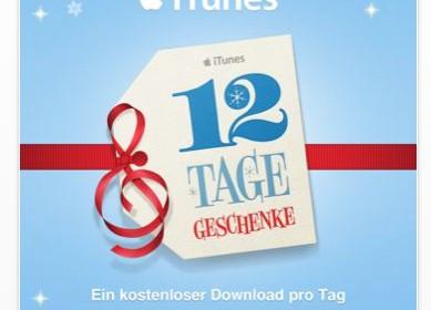 Ab 26. Dezember: 12 Tage Geschenke von Apple für die Nutzer von iPhone, iPad und iPod Touch