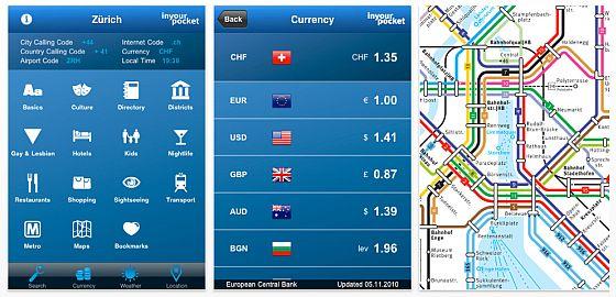 Gleich 17 Städteführer in englischer Sprache kostenlos für iPhone und iPod Touch