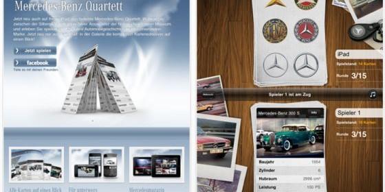 Mercedes-Benz Quartettspiel nun auch für das iPad erschienen