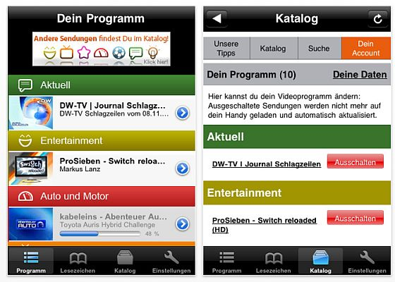 dailyme Screenshot für iPhone und iPod Touch