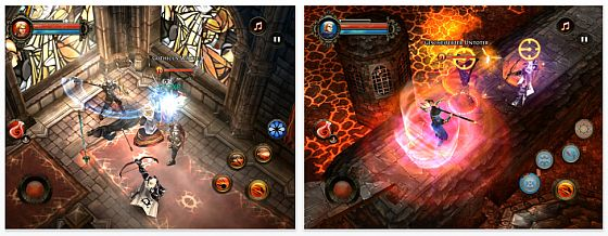 Dungeon Hunter 2 für iPhone, iPod Touch und iPad Screenshots