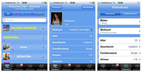 Edencity Chat für iPhone und iPod Touch