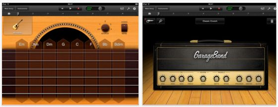 GarageBand fr das iPad von Apple - Screenshot