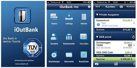 Zu Ostern:Die App des Jahres 2010 iOutbank für iPhone, iPod Touch und iPad bis Donnerstag kostenlos