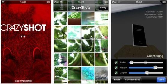 Neue iPhone-Foto-App Crazy Shot schießt coole Zufallsbilder aus der Bewegung heraus