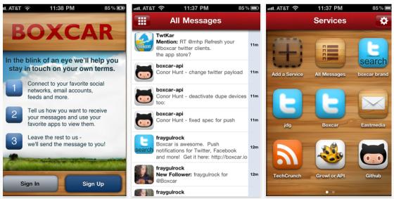 Boxcar - Nachrichten-App für iPhone, iPod und iPad - Screenshots