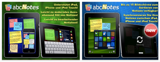 abc Notes auf dem iPad Screenshots