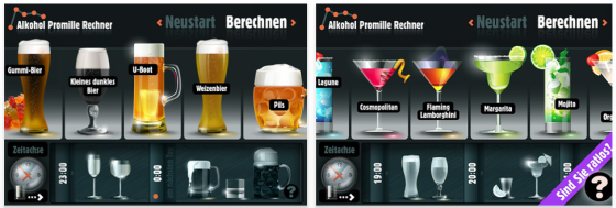 Alkohol Promille Rechner Screenshot