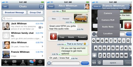 WhatsApp fr iPhone - Screenshot