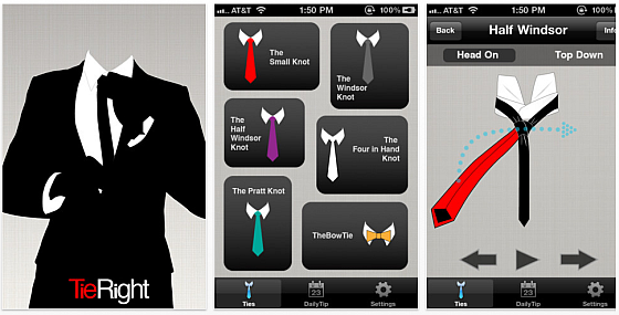 Tie Right fr iPhone und iPod Touch