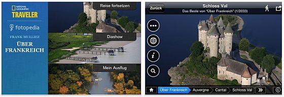 2000 Luftbilder von Frankreich in einer gratis Foto-App für iPhone, iPod Touch und iPad