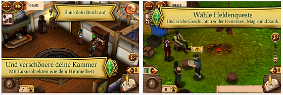 Die Sims Mittelalater fr iPhone und iPod Touch