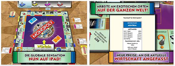 Monopoly Welt-Edition zum ersten Mal für iPhone und iPad kostenlos