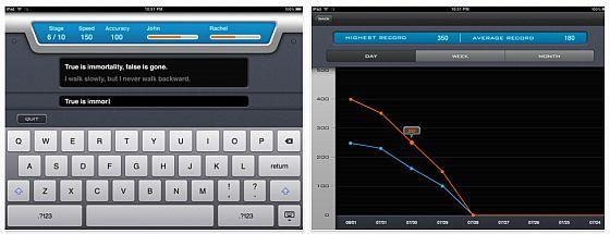 Schneller schreiben auf iPhone und iPad trainiert die App Speed Text Pro