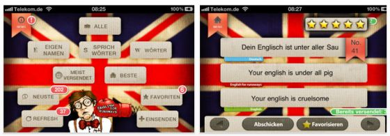 English for Runaways - Screenshot der App für iPhone und iPad