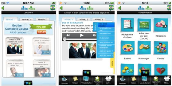 Hellko-Hello Portugiesisch Screenshot der iPhone-App