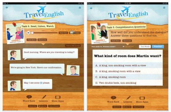Travel English HD fr iPad Screenshot