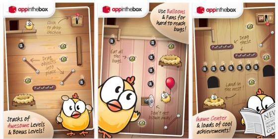 Witziges Physik-Spiel Drop the Chicken gerade kostenlos für iPhone, iPod Touch und iPad