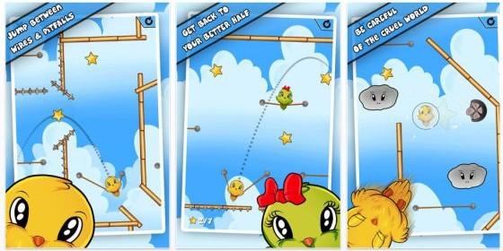 Jump Birdy Jump ist gerade kostenlos für iPhone und iPad – hilf dem kleinen Vogel, seine Freundin zu finden
