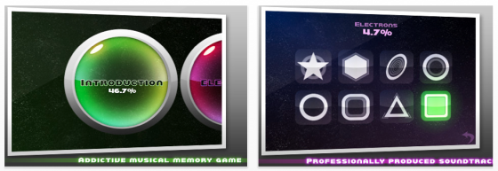 Memodies Screenshot iPhone- und iPad-Musikmemory-App