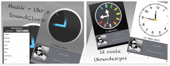 Soundclock Pro Screenshots der App für iPhone, iPod Touch und iPad