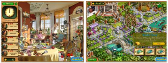 Gardenscapes HD (Premium) kostenlos – schweres Bilderrätsel für das iPad von Playrix
