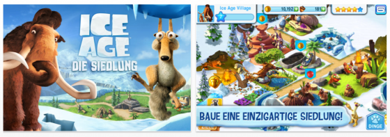 Ice Age: Die Siedlung Screenshots der App fr iPhone und iPad