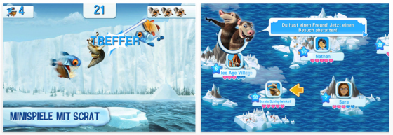 Ice Age: Die Siedlung fr iPhone, iPod Touch und iPad Screenshots