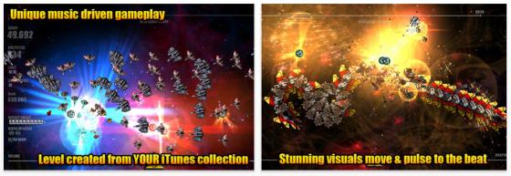 Beat Hazard Ultra für iPhone und iPad – Aus Eurer Musik wird ein Arcade-Weltraum-Spiel