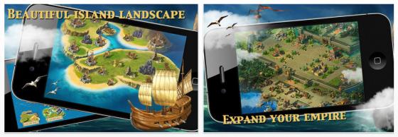Baue Deine Kolonie in Island Empire (Deluxe) auf dem iPad – die App ist heute kostenlos