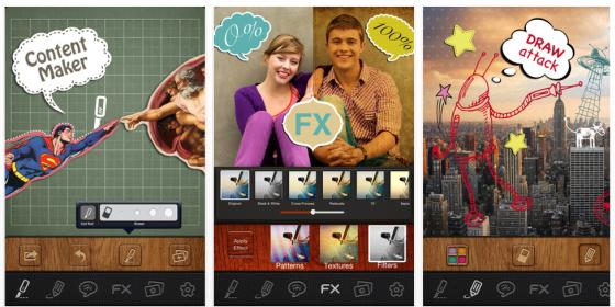 Mit der gerade kostenlosen App PicSee Pro kannst Du Deine Fotos sehr individuell gestalten