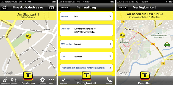 Taxi Deutschland Screenshot