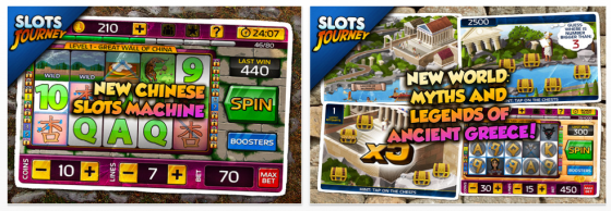 Slots Journey für iPhone und iPod Touch Screenshots