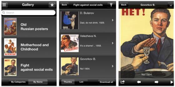 761 Propaganda-Poster aus der Sowjetunion in einer App für iPhone, iPod Touch und iPad