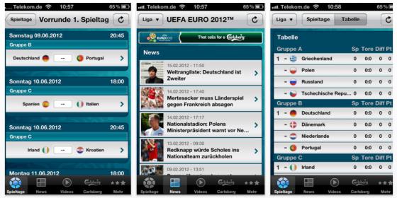 UEFA EURO 2012 – App zur UEFA Fußball-Europameisterschaft – in 10 Tagen ist Anpfiff