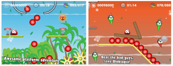 Blobster HD für das iPad - Screenshots