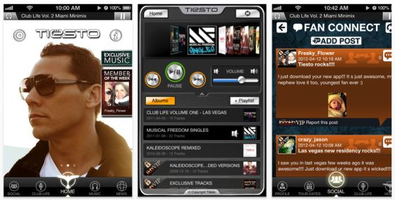 Tiesto App Screenshots