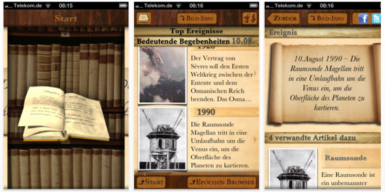 Der Geschichtskalender heute kostenlos für iPhone und iPod Touch