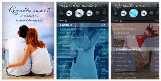 Romantic Music 2 Screenshots der Universal-App fr iPhone und iPad