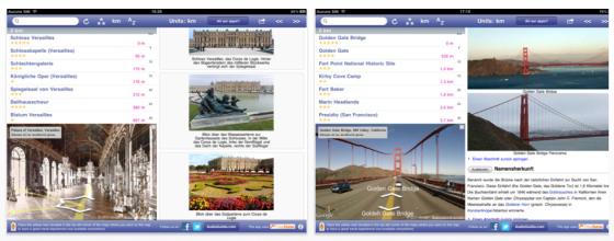 Der deutsche World Explorer für iPhone und iPad gibt Dir Umgebungsinfos überall auf der Welt