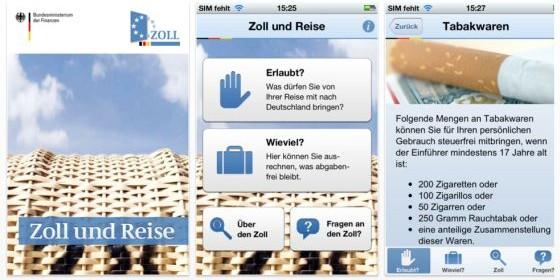 Zoll und Reise – die Erlaubnis-App für alle Geschäfts- und Urlaubsreisen